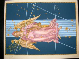 Bayer Uranometria 1661 Folio Hand Col Celestial Map. Virgo 27